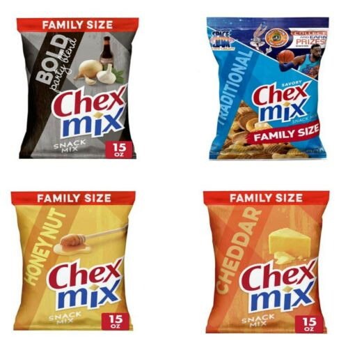 Chex Mix Bold Party ,Traditional ,Cheddar ,Honey Nut Savory Snack Mix, 15 oz