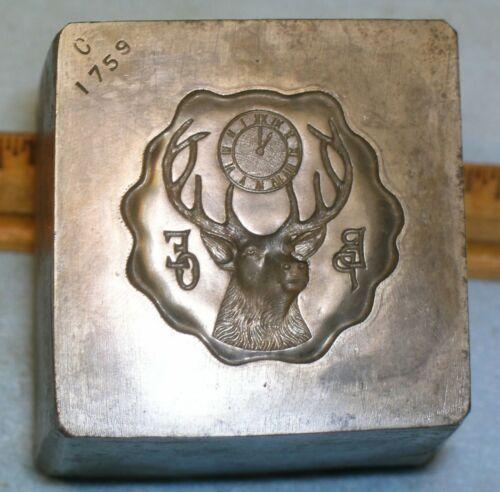 Antique 1910 BPOE ELKS Stamping Die MC Lilley