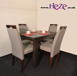 Extending Dining Table In Dark Wood Oak Wenge Small Perfect