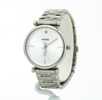 Women's Fossil The Carbon Series Stainless Steel Watch ES4440, New