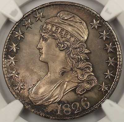 Click now to see the BUY IT NOW Price! 1826 50C GEM CAPPED BUST HALF DOLLAR SILVER COIN NGC MS 64 MUCH BETTER COIN