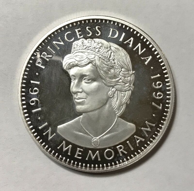 1997 20 DOLLARS - LIBERIA - PRINCESS DIANA IN MEMORIAM - PROOF SILVER - Lot#A410
