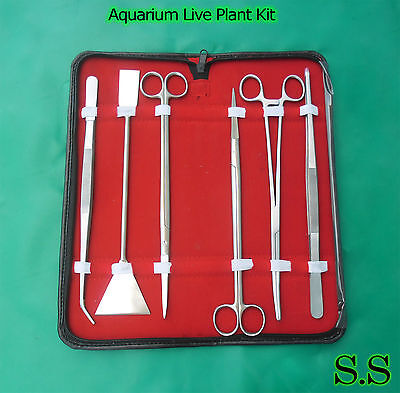 Aquarium Maintenance for live Plants Fish Tank 6 Piece Tool Kit SK-761