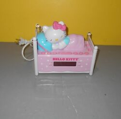 Hello Kitty Girls Child's Sleeping Kitty Alarm Clock AM/FM Radio w/ Night Light