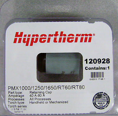 Hypertherm Genuine Powermax 100012501650 Retaining Cap 120928
