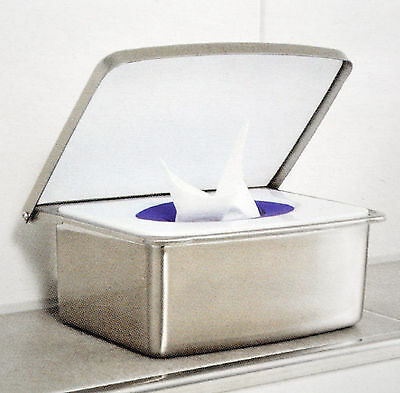 Edelstahl Feuchttücherbox Kosmetiktücher-Box mit Anti-Fingerabdruck-Beschichtung