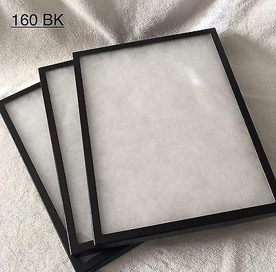 "#160 (12) Riker Mount Display Case Shadow Box Frame Tray 16"" X 12"" X 3/4"""