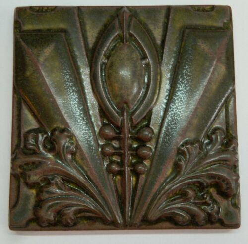 "Motawi Tileworks ARCHER 6"" x  6"" Arts & Crafts, Art Deco, Louis Sullivan"