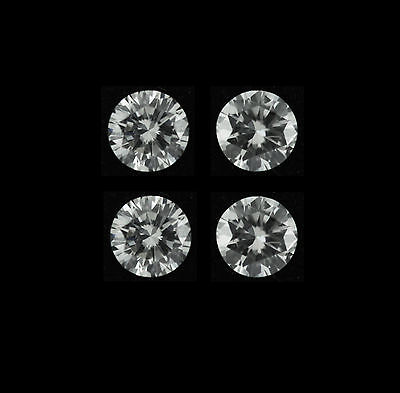 4 Pcs Total 0 80Ct Round H Si1 Wholesale Lot Diamond Loose 3 70 X 3 70   2 25Mm