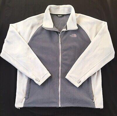The North Face Men's Size 2XL XXL Gray Full Zip Fleece Jacket