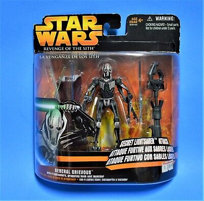 - GENERAL GRIEVOUS STAR WARS ROTS SECRET LIGHTSABER ATTACK RARE EXCLUSIVE MEXICO