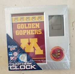 New NCAA Minnesota Golden Gophers Plastic Square Desk Clock with Easel