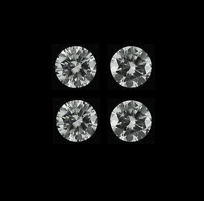 4 Pcs Total 0 96Ct Round Natural G Vs2 Diamond Loose Wholesale Lot 3 90 X 3 90Mm