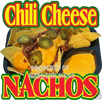 Nachos Chili Cheese Mexican Restaurant Concession Food Truck Menu Decal 14