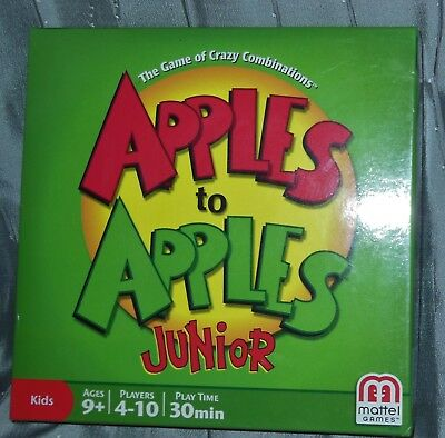 Kids APPLES TO APPLES Junior GAME 4-10 Players FAMILY PARTY OpenBox-New Inside