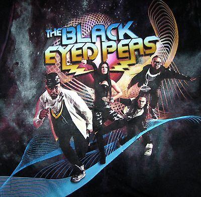 Black Eyed Peas 2010 World Tour Concert Cotton Tultex T-shirt Adult M