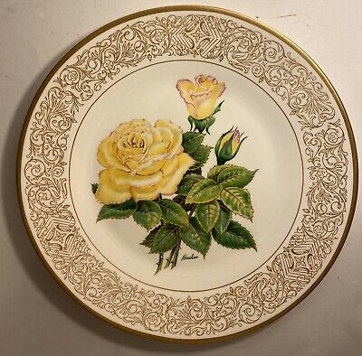 The Peace Rose Boehm Collector Plate Limited Edition England Edward Marshall Rose Collector Plate