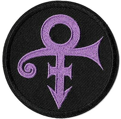 Prince - The Artist Symbol: Purple & Black Logo Patch Embroidered Iron or Sew On