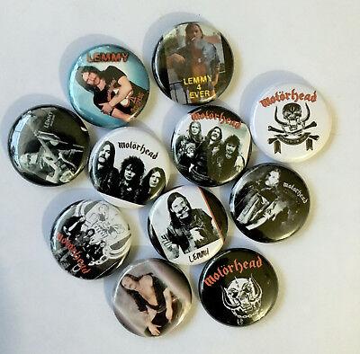 Motorhead  Lemmy  Fast Eddie Clark  80S  Heavy Metal  1  Buttons  Pins