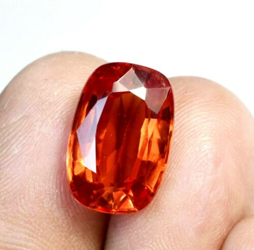 7.75 Ct Natural Spessartite Garnet Clean Fanta Orange Emerald Loose Gemstone