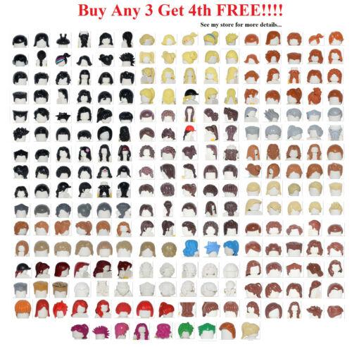 ☀️NEW Lego PICK YOUR HAIR Female Male Boy Girl Minifigure minifig Beard Parts