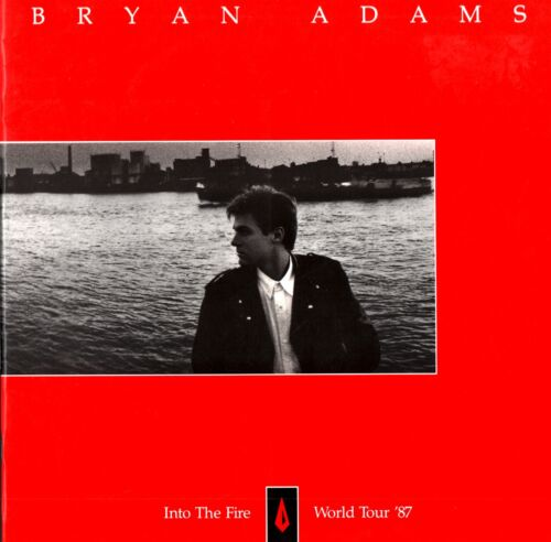 BRYAN ADAMS 1987 INTO THE FIRE TOUR CONCERT PROGRAM BOOK BOOKLET / NMT 2 MINT