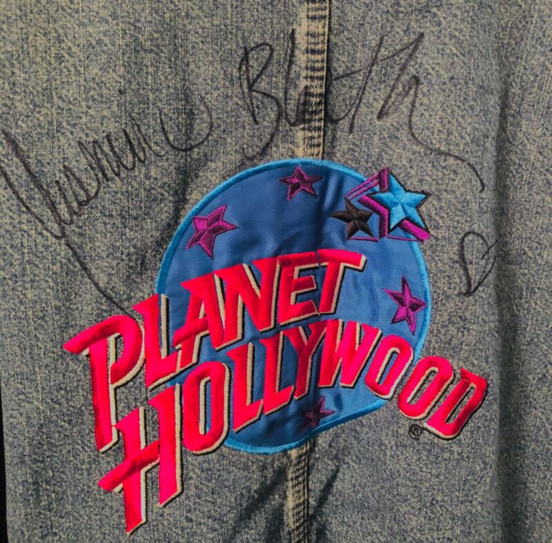 YASMINE BLEETH Baywatch Autographed Planet Hollywood Jacket Large