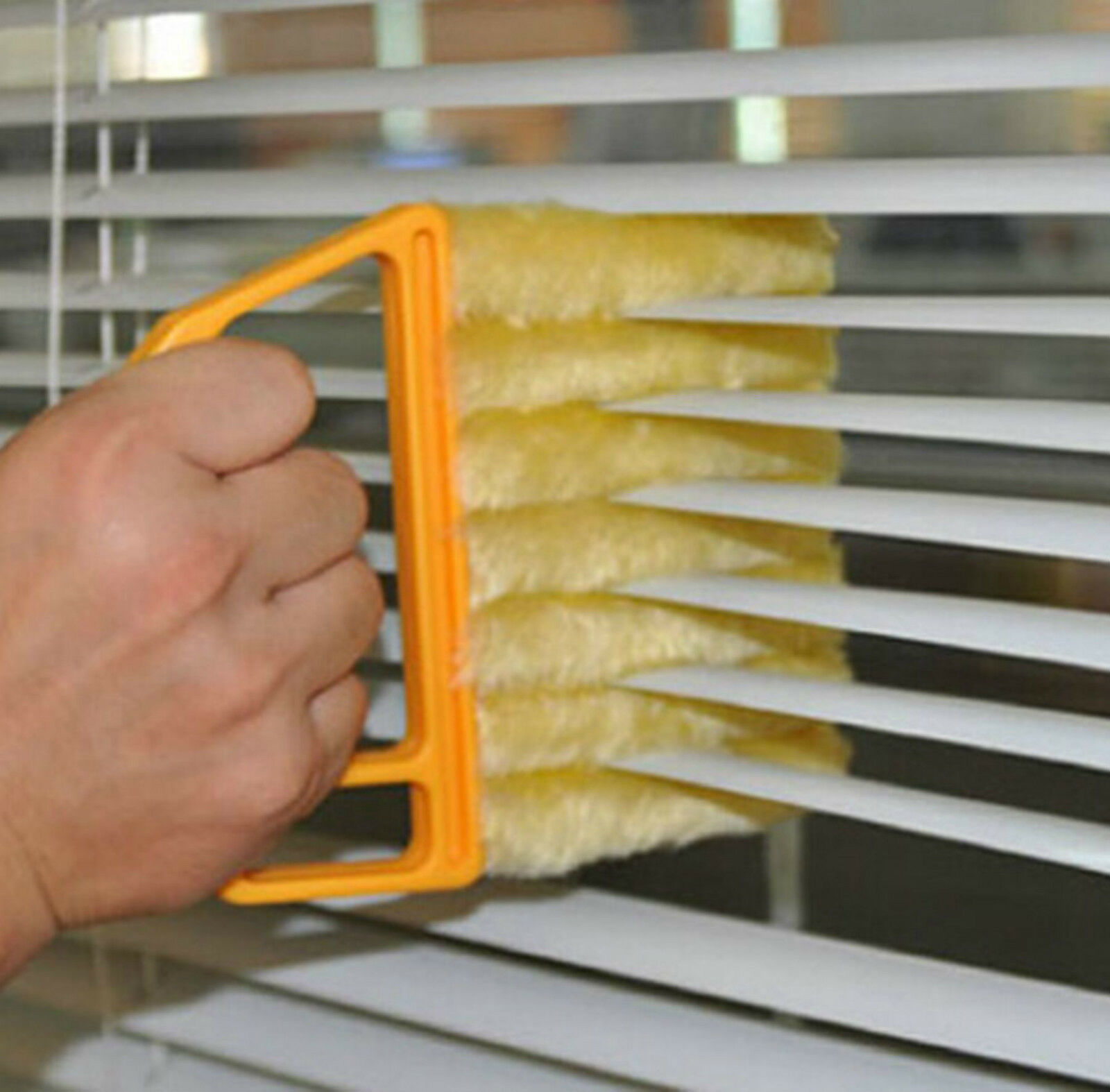 EASY CLEANING TOOL WASHABLE VENETIAN BLIND 7SLAT CLEANER BRUSH DUSTER BLINDS