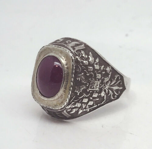 Russian Imperial 84 Silver Enamel Ring