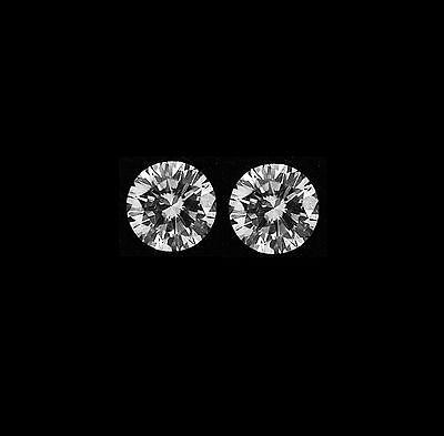 2 Pcs Total 0 46 Ct Matching Pair Round Cut Loose Diamond E Vs1 3 80 Mm Natural