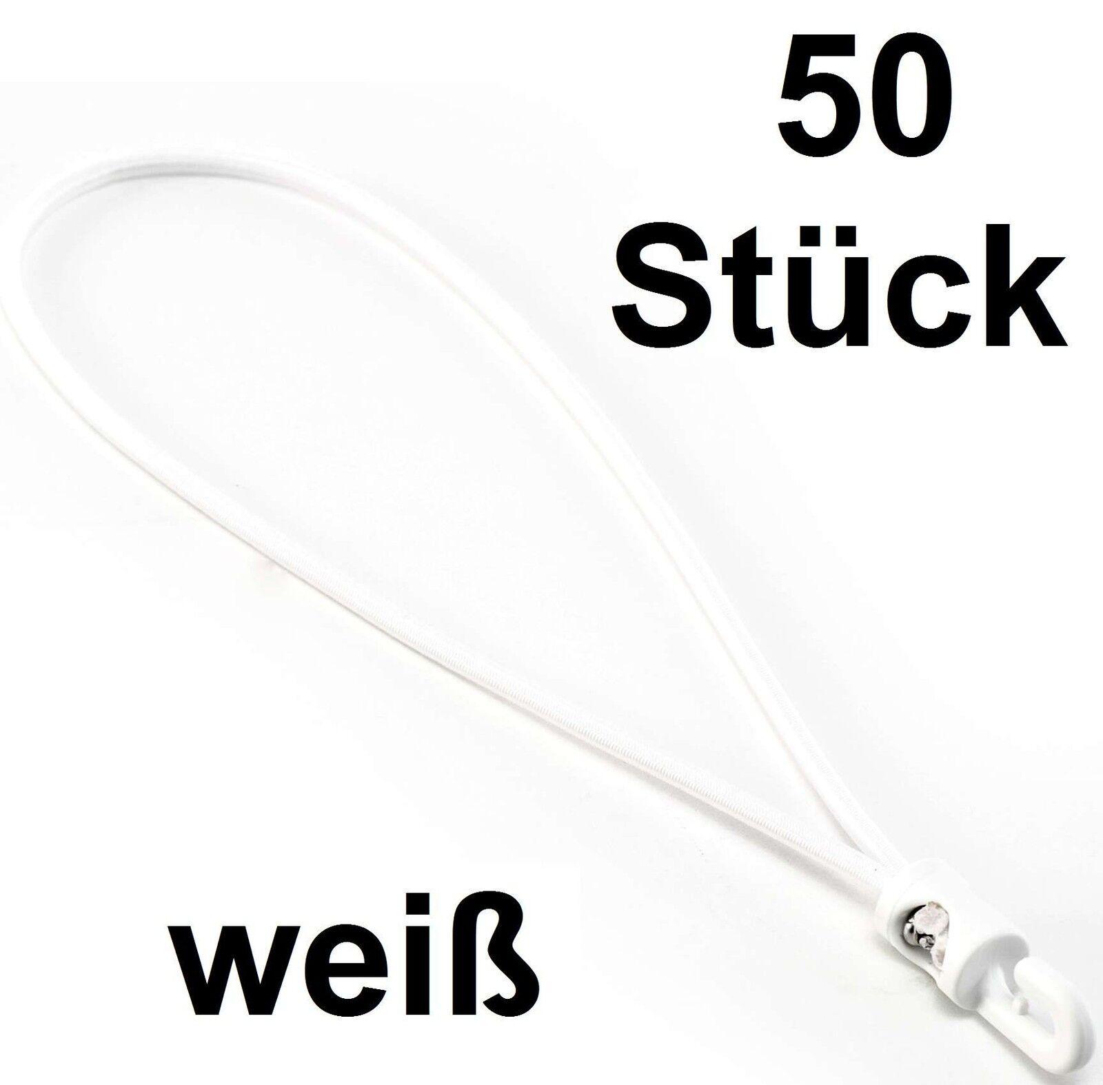 100x Gummi-Kabelbinder 27cm x 4mm grau Spannfixe Spanngummi Spannfix Expander