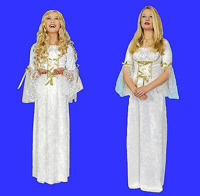 Damen Mädchen Kostüm ENGEL Kleid Engelchen Weihnachten Engelskostüm - Engel Kostüm Mädchen