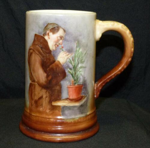 Antique CAC American Belleek Lenox Hand Painted Monk Porcelain Tankard Mug