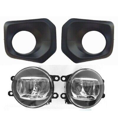 Black Fog Light Kit (LED FOG LIGHT REPLACEMENT KIT FOR 2016 ON TACOMA LAMPS  BLACK BEZELS LED LAMPS )