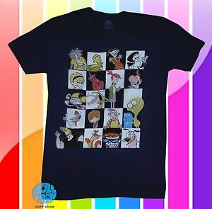 New-Cartoon-Network-90s-Character-Group-Shot-Men-039-s-Vintage-Retro-T-Shirt