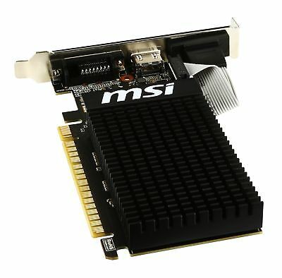 MSI GeForce GT 710 2GD3H LP Graphics Card, Fanless Heatsink, Low Profile 4