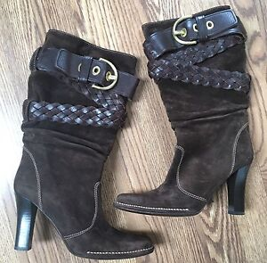Authentic COACH Brown Suede Booties 6 1/2