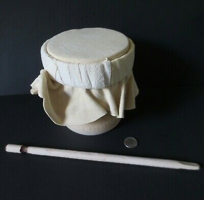 Mohawk water drum, solid bamboo & leather by l- Paul St John, (Mohawk Bamboo)