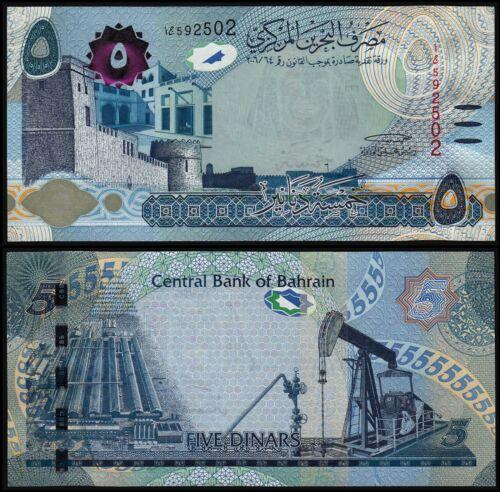 BAHRAIN 5 DINARS (P NEW) 2018 UNC