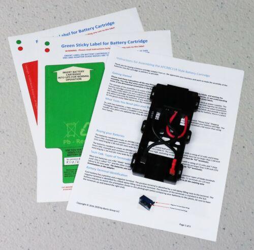 APCRBC124 or APCRBC123 Battery Coupler Adapter, Labels, Instructions + Free Ship