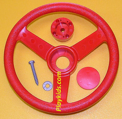 Playground Swing Set Play Backyard Jungle Gym Steering Wheel & Cap 12
