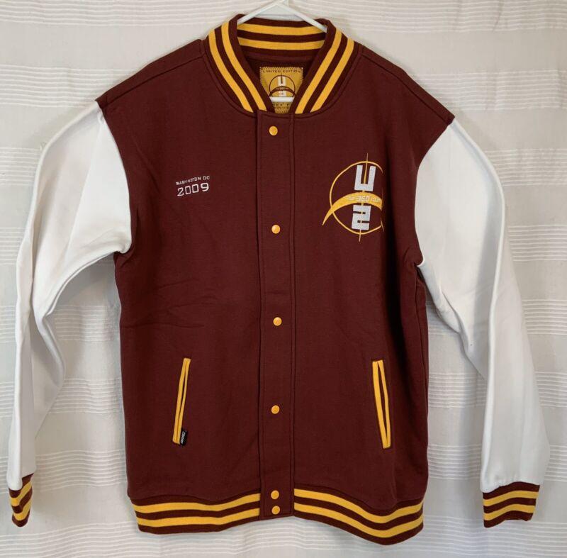 New U2 360 Tour 2009 Limited Edition Redskins Letterman Varsity Fleece Jacket XL