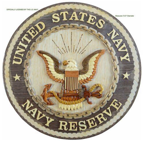 U.S. NAVY RESERVE EMBLEM - NAVY PLAQUE - Handcrafted Wood Art Military Plaque