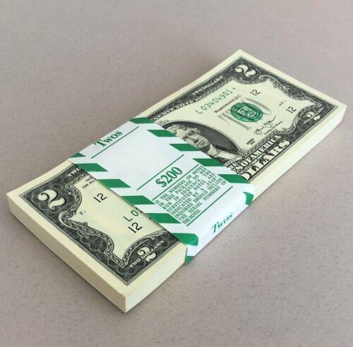 100 $2 Star Notes New Two Dollar BEP Pack 2013 Bills San Francisco L Consecutive