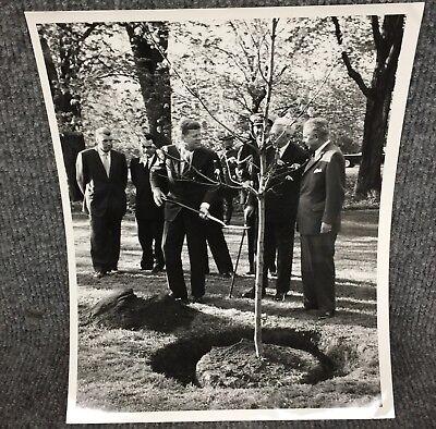 Vintage President John F. Kennedy Planting A Tree In Canada Press Photo F2