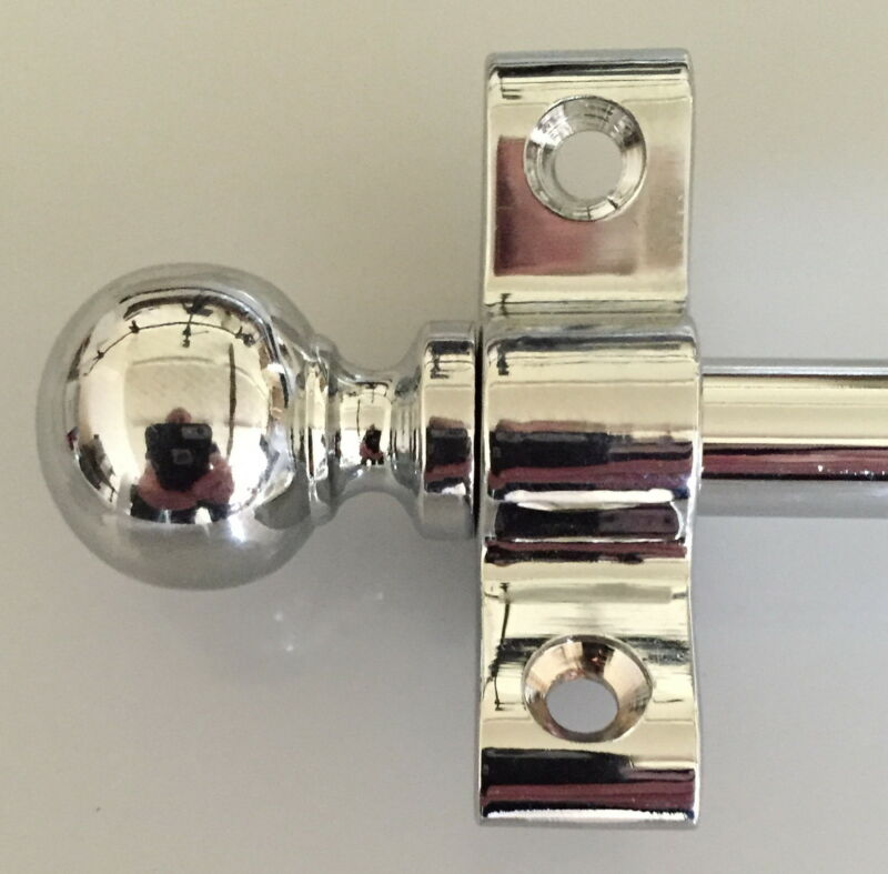 POLISHED CHROME STAIR RODS 3/8 INCH BALL FINIAL (R03B)