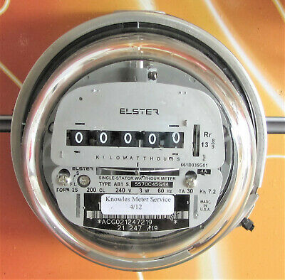 Ab1 Single Stator .elster Electric Watthour Meter
