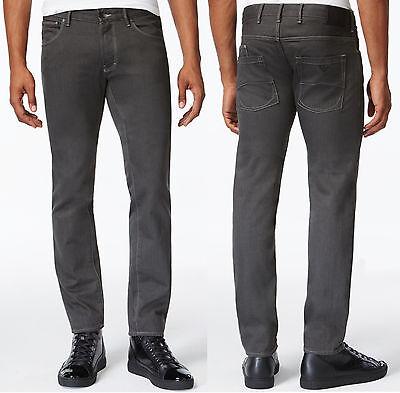 NWT Armani Jeans J28 Slim-Fit Gray Wash Six-Pocket Style Twill Jeans