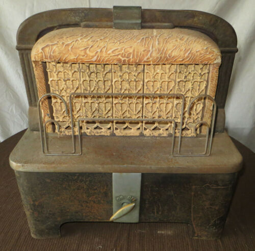 Vintage Cahill 240-10 Gas Butane Propane Radiant Space Heater Ceramic Bricks