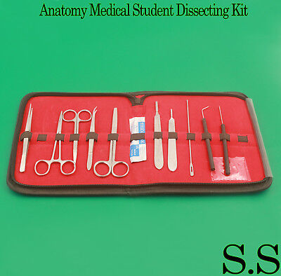 30 Pcs Advanced Biology Lab Anatomy Medical Student Dissecting Kit Set
